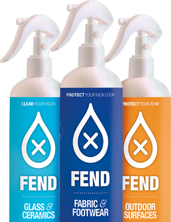 Fend Glass & Ceramics, Fend Fabric & Footwear, Fend Outdoor Surfaces